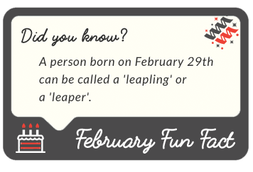 February 2016  fun facts