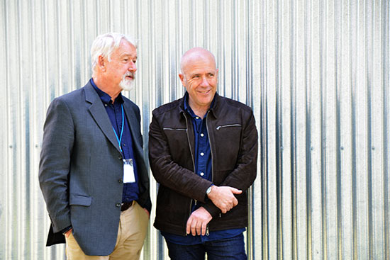 Festival Director Owen Tilbury with Richard Flanagan