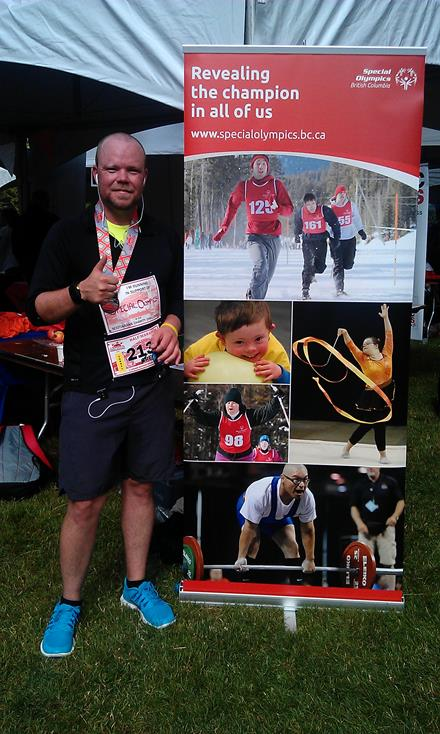 SOBC - Kelowna volunteer Greg Mather after completing the 2014 Scotiabank Vancouver Half-Marathon