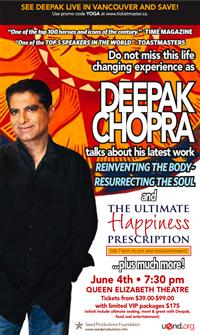 Deepak Chopra - Queen Elizabeth Theatre