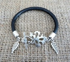 Leather bracelet, £12.95, Shelley Louise Design