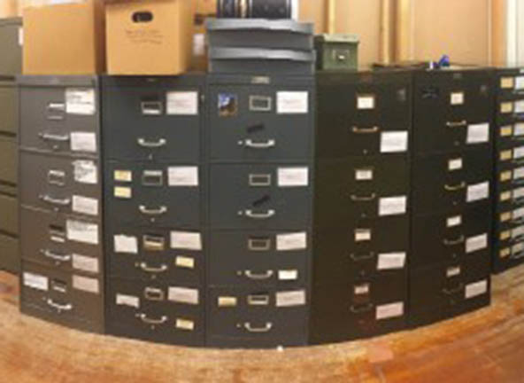 Image of rearranged archives storage area
