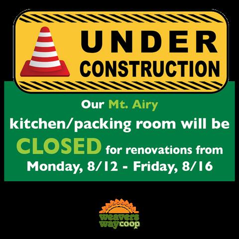Mt. Airy kitchen closure
