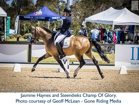 Jasmine Haynes and Steendieks Champ Of Glory.