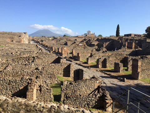 Excavations at Pompeii. Photo: Steven Ellis.