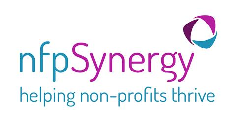 NFP synergy ; helping non-profits thrive Logo