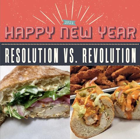 Resolution vs. Revolution Sandwich Specials in Chestnut Hill