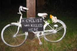 Does everything and nothing change when a cyclist dies?