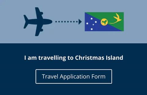 Christmas Island Travel Application Form