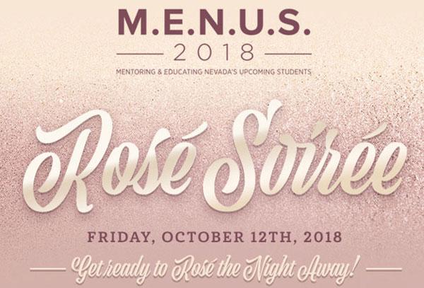 M.E.N.U.S. 2018 Rosé Soirée