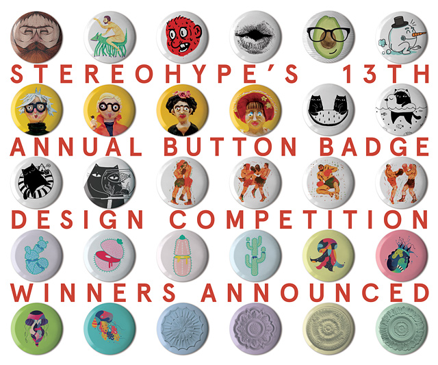 13th annual Button Badge Design Competition winners and runners-up announced