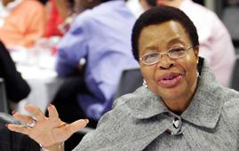 Graça Machel in Johannesburg, South Africa