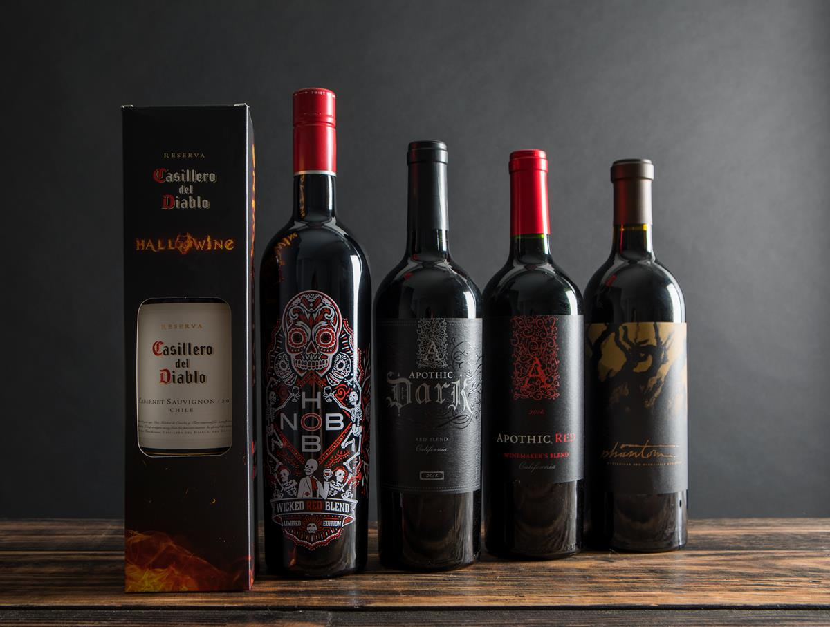 Casillero del Diablo, Hob Nob, and Apothic wines