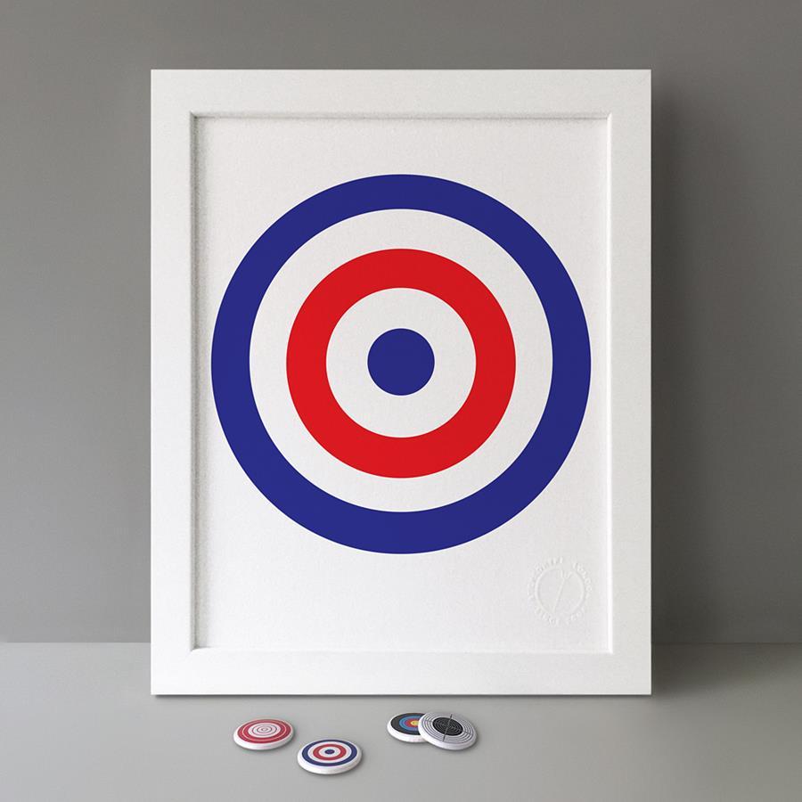 Button Badge Motif Print