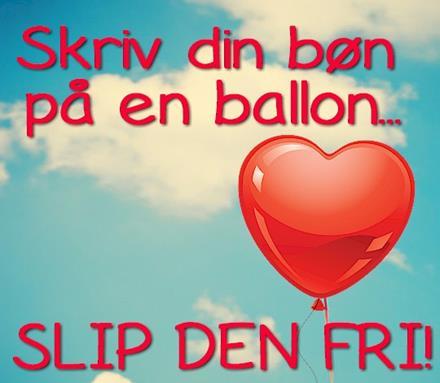 skriv din bøn på en ballon