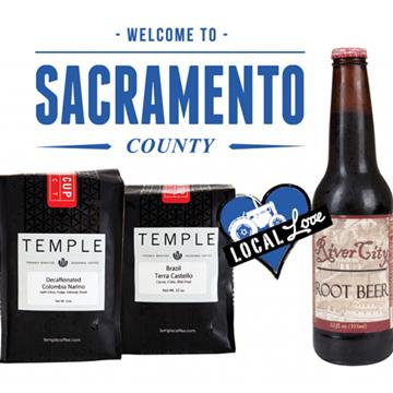 Temple coffee and River City root beer