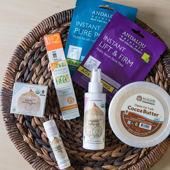 Andalou skin care products