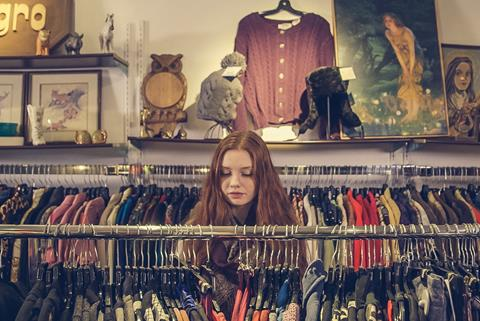 Vintage clothing sale rail