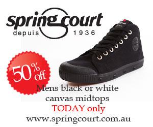 Ad - Springcourt 50% off