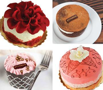 Four Ettore's cakes