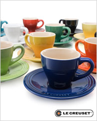 Le Creuset Espresso Cup and Saucer, Set of 2