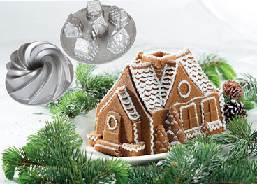Bundt Gingerbread House