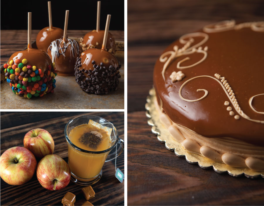Caramel apples, caramel apple cake and caramel apple cider