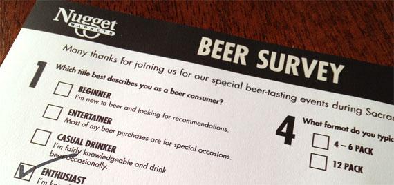 Nugget Market beer survey