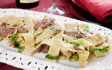 Gluten Free Pappardelle With Duck Confit