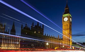 Artistic photo showing Big Ben