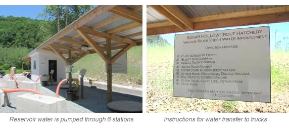 Photos: Pump station, Instructions for water transfer