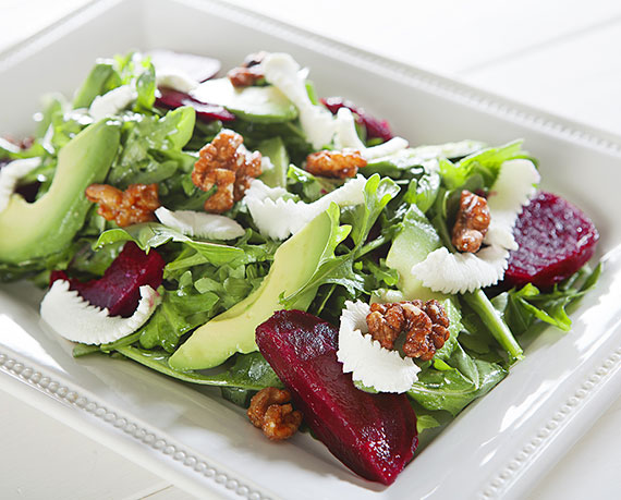 Local Rocket, Beet and Chévre Salad