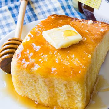 Corn Bread with Butter and Honey