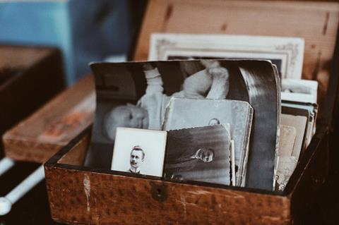 Family images in a box