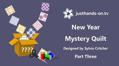 Mystery Quilt with Sylvia Critcher - Part 3