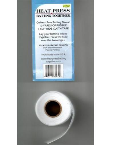 Heat Press – thin white fusible cloth tape