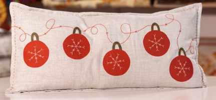 5 Red Baubles Cushion Kit (as seen in Sewing World Magazine)