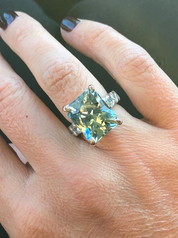 Bespoke aquamarine ring by Alice Herald