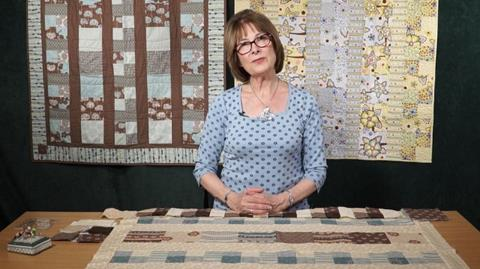 Spa quilt with Val