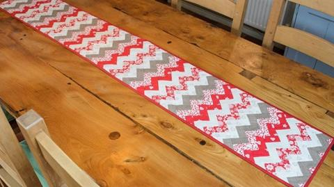 Zig Zag Table runner with Anne Baxter