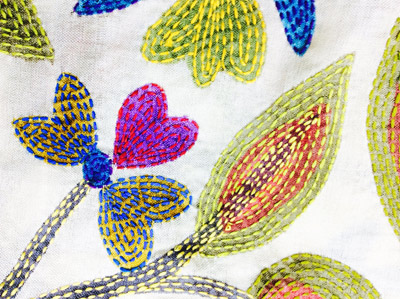 Kantha Stitch Holiday in West Bengal with Colouricious