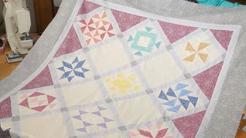 Thangles Sampler with Flurry Fabrics by Valerie Nesbitt