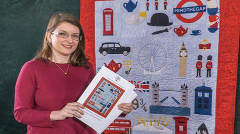 London Calling quilt with Izzy Saulet