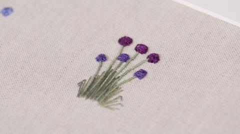 Embroidered Flower stems