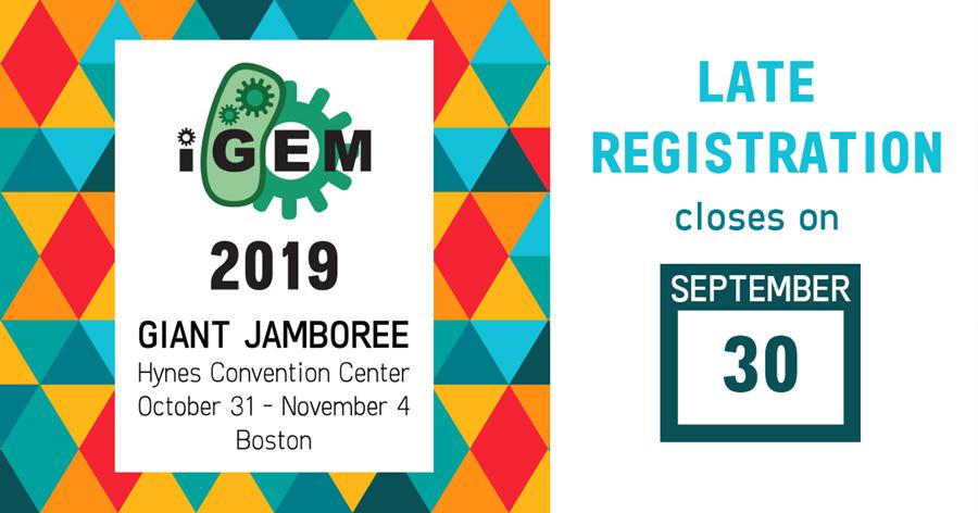Late registration closes on September 30