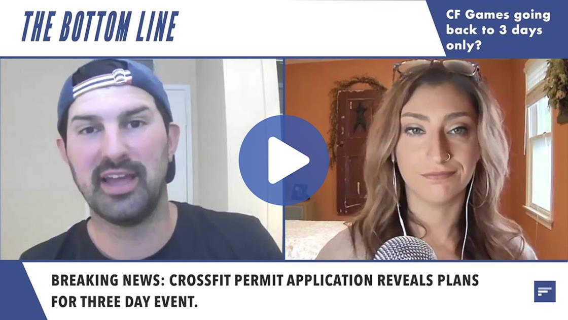 VIDEO: 2020 CrossFit Games Only 3 Days? | The Bottom Line