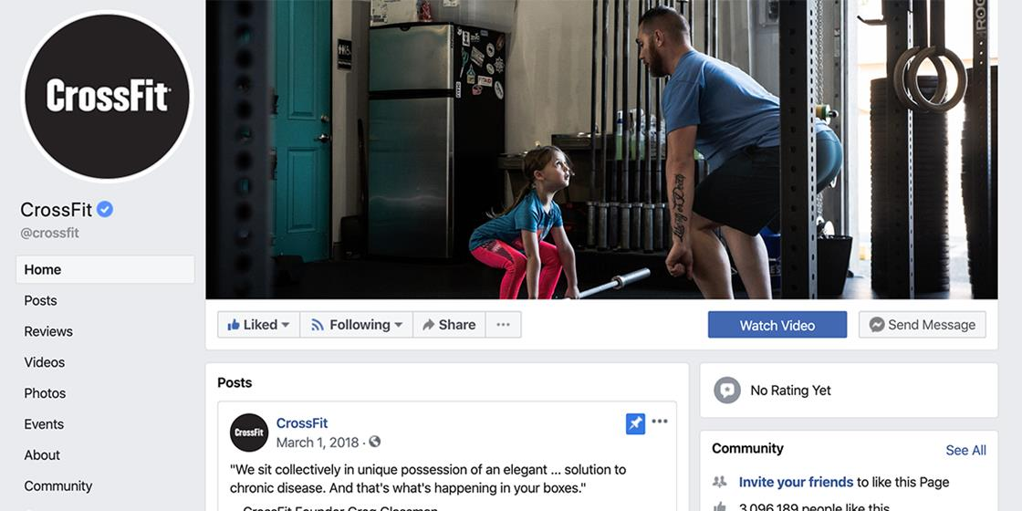 CrossFit Returns To Facebook