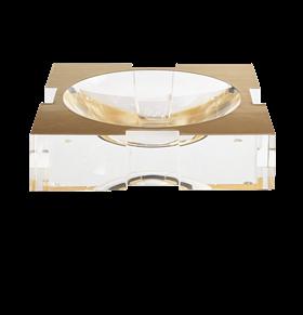 Carter Bowl Acrylic Gold