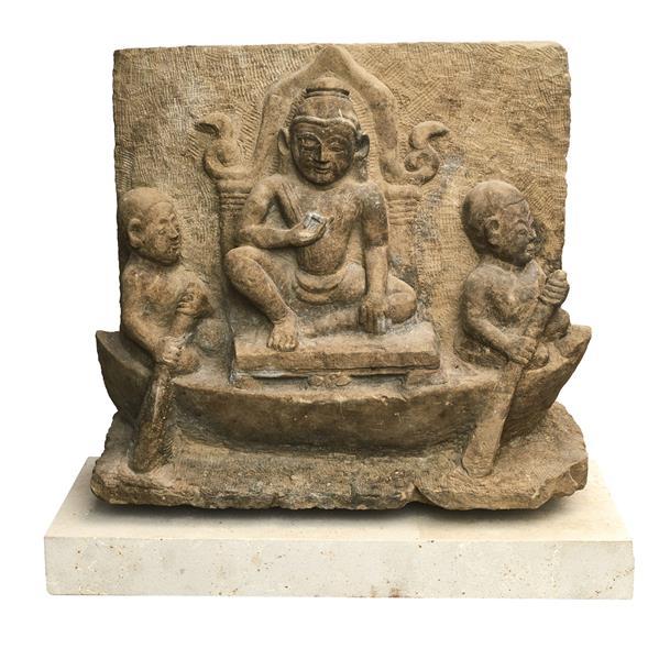 Buddha sandstens relief