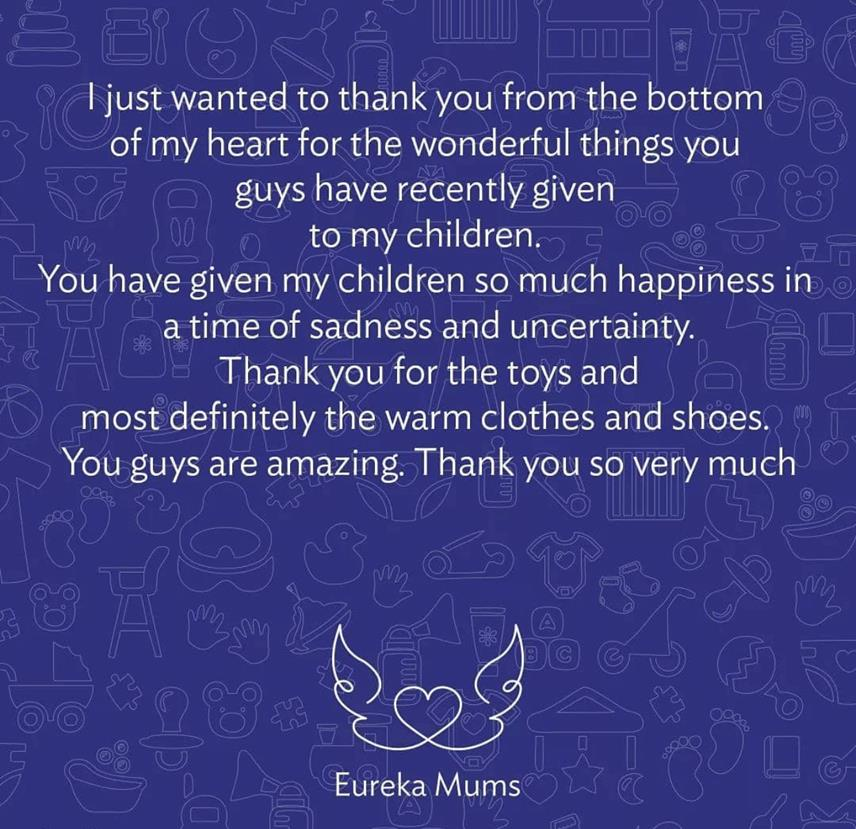 A special note of thanks